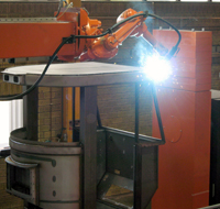 Welding of cabin with IRB1600 robot