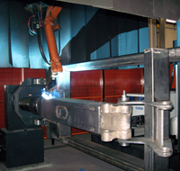Welding of product in one axis positioner
